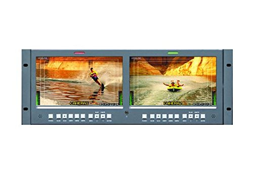 Rackmount Video - Wohler RM-4210WS-3G2 4RU Dual 10-Inch Widescreen LCD Rackmount Video Monitor 3G-SDI with Embedded Audio