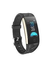 YOMYM Fitness Tracker HR, Activity Tracker Reloj con Monitor de Ritmo cardíaco, podómetro IP67 Contador de Pasos Impermeable para Dormir Monitor para Android y iPhone