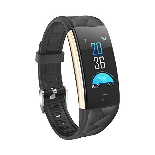 YOMYM Rastreador de Ejercicios Plus Rastreador de Actividad del Monitor de Ritmo cardíaco Impermeable/Podómetro/Alerta de...