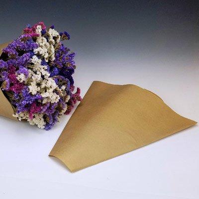 Kraft Paper Cut Flower Bouquet Sleeves - Measure 14''x 14'' x 4''