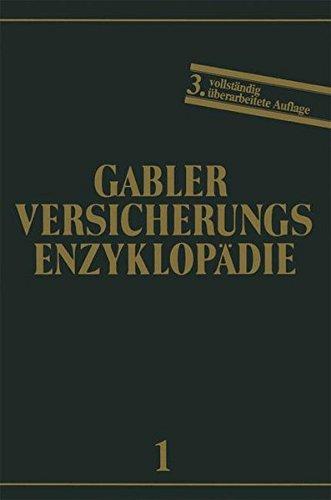 Allgemeine Versicherungslehre (Versicherungsenzyklopädie) (German Edition) by Gabler Verlag