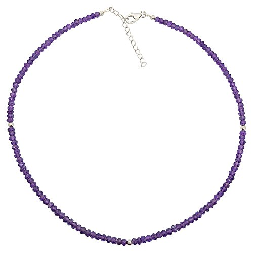 BellaMira 'Body Mind & Soul' Sterling Silver Amethyst Necklace Artisan Crafted Handmade In India Fine Jewellery In Retail Gift (Artisan Crafted Necklace)