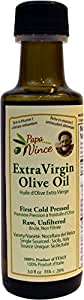 Olive Oil Extra Virgin Single Estate from our family in Sicily, First Cold Pressed 2016/17, Italy, Unblended, Unfiltered, Unrefined, Robust, Rich in Antioxidant 3 fl oz - Papa Vince