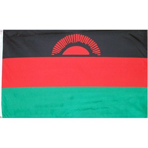 Malawi Flag Polyester 3 ft. x 5 ft. Flags Unlimited