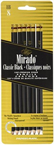 Black Warrior Pencil - Paper Mate Mirado Black Warrior Pencil No. 2, 8 Count