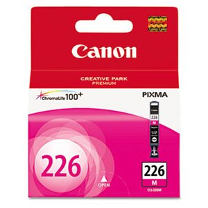 Canon Oem Ink Tank (Canon 4548B001 OEM Ink - (CLI-226M) iP4820 MG5120 MG5220 MG6120 MG8120 MX882 MX892 iX6520 iP4920 MG5320 Magenta Ink Tank)