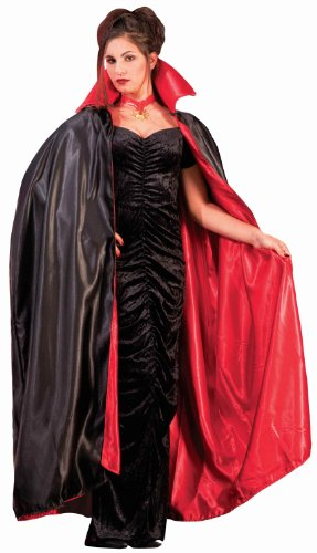 Full Length Adult Cape,Black / Red,One Size ()