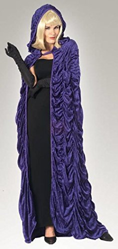 [Desdemona's Royal Purple Velvet Hooded Cape Halloween Costume Witch, Sorceress] (Desdemona Costume)