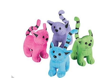 Assorted Plush Cats (1 dozen) -