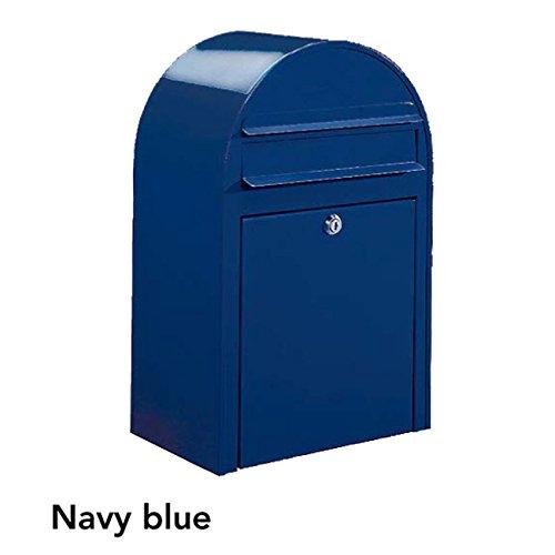 ポスト 郵便受け 郵便ポスト ボビ ネイビーブルー 前入れ前出し 鍵付き スタンド対応可 集合住宅対応   B077Z3F2LW