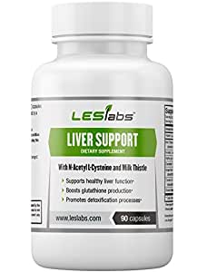 Liver Support - Natural Supplement for Healthy Liver Function & Detoxification - With Milk Thistle, NAC, ALA and Dandelion Root - 90 Vegetarian Capsules