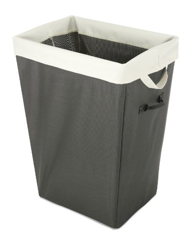 Whitmor 6008-3770-GRYSTN Easy care Hamper and Laundry Bag, G