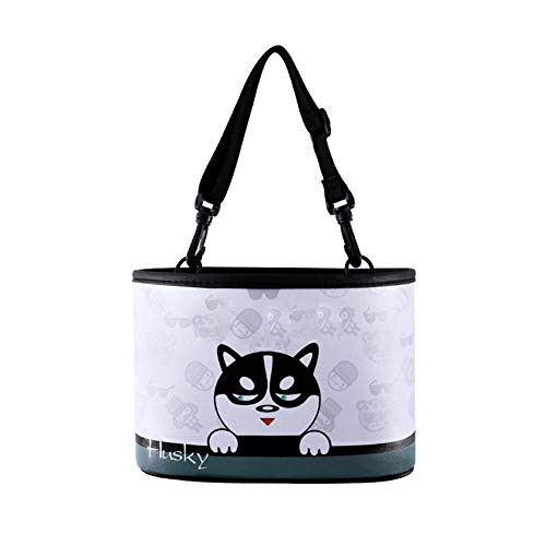 (Car Trash Can Garbage Bag Universal Auto Fashionable Designs Litter Bin Portable Hanging with Storage Pockets - 100% Leak Proof Waterproof Liners Mini Container Accessories)