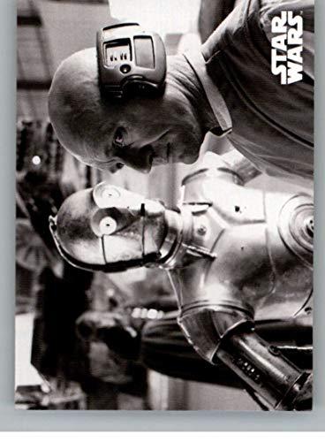 2019 Topps Star Wars Empire Strikes Back Black and White #84 At Lobot's Disposal C-3PO/Lobot Trading Card