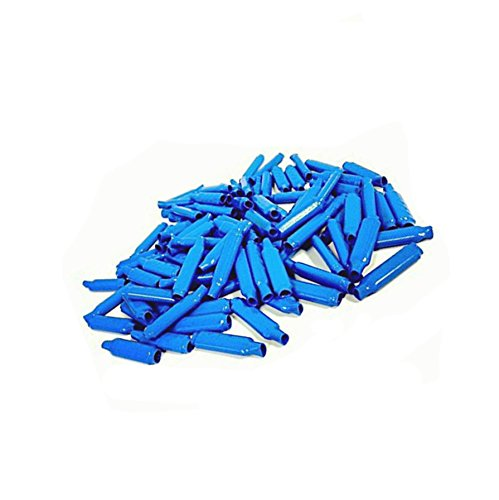 Low Voltage Wire Connectors - QIYAT B Connectors Silicone Filled Wet B Gel Telephone Alarm Wire Crimp Bean Type Splice for Low Voltage application, Blue (100Pcs) (Telephone Connector)