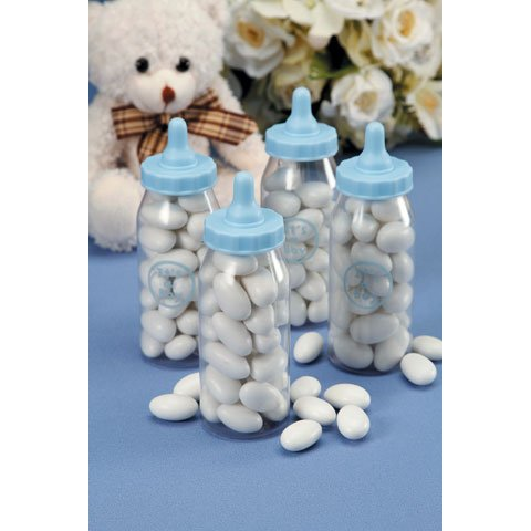 Baby Shower Favor - Baby Bottle - Blue - 3 inches - 12 piece