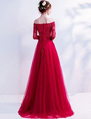 für Ausschnitt Blush Pailletten LuckyShe Abendkleider Brautjungfernkleid Hochzeit ELegant V Damen Lang wqOOgx6YA
