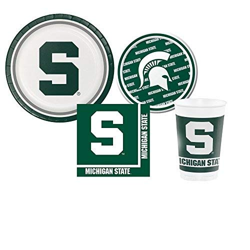 Michigan State Spartans Party Pack - Plates, Cups,