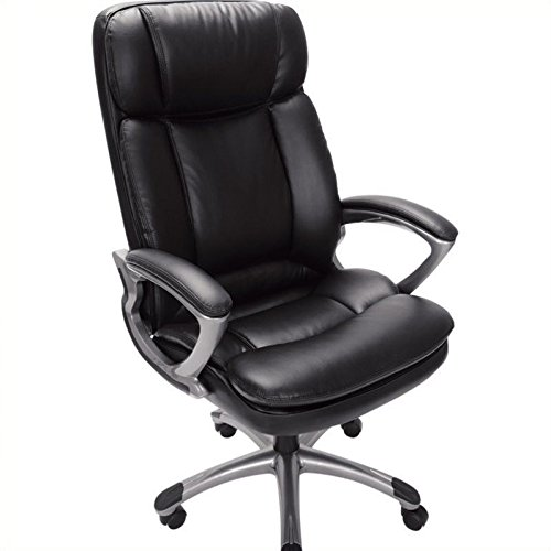 Serta 43675 Faux Leather Big & Tall Executive Chair, Black by Serta