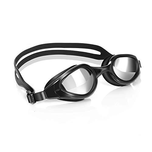 TOPLUS Swim Goggles, Swimming Goggles Swim Goggles for Men Adult Women YouthSwim Glasses No Leaking Anti Fog UV Protection - Black