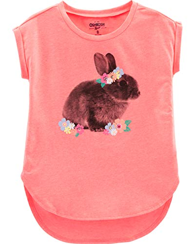 Bunny Clothes For Girls (Osh Kosh Girls' Little Short-Sleeve Tunic, Orange Bunny,)