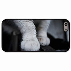 iPhone 5 5S Black Hardshell Case paws fluffy Desin Images Protector Back Cover