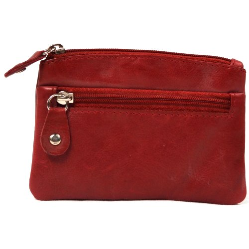 - Ladies Butter Soft Genuine Leather Wallet/Coin Purse (Red)