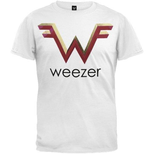 Weezer - Mens W Logo T-shirt 2x-large White