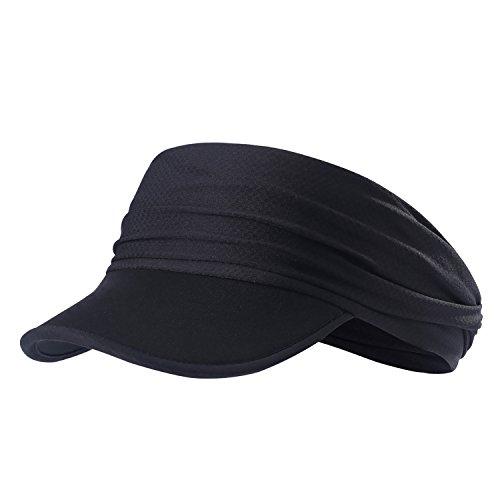 (Sun Visors for Women - Yoga Headband Outdoor Peaked Golf Cap Headwear Visor Hat Race Gear UV Protection)
