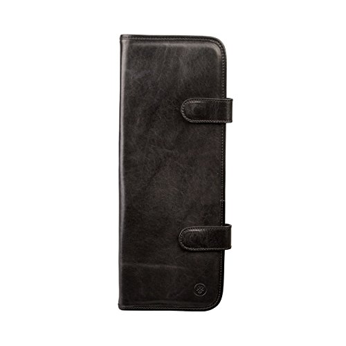 Maxwell Scott Luxury Italian Leather Tie Travel Case, Night Black (Tivoli) by Maxwell Scott Bags
