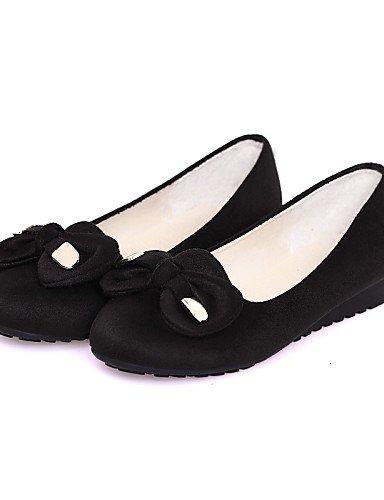 mujer piel us5 Casual almond negro Flats uk3 Burgundy redonda de azul plano cn34 de almendra punta eu35 zapatos sintética PDX talón qTIftf