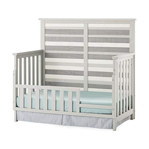Forever Eclectic by Child Craft, Long Beach Toddler Bed Guard Rail, Seascape Gray