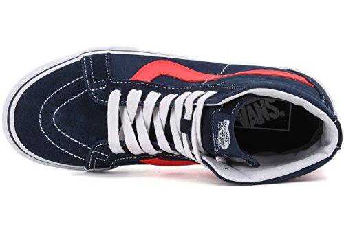 Sneakers Dress Hi 41 Blues Red Reissue neon Vans Hautes Leather neon Blanc EU Homme UA Sk8 wIq7E7ga