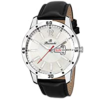 Buccachi Analogue White Round Day & Date...