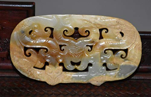 Rare Chinese Han Dy Old Jade Carved Dragon Figure Design Pei