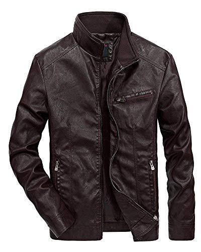 Leisure Capispalla Long Da Jacket Giacca In Pu Outdoor Biker Ragazzi Pelle Finta Kaffeebraun Uomo Cappotto Leather Manica Classiche Lunga S4wwAaYq