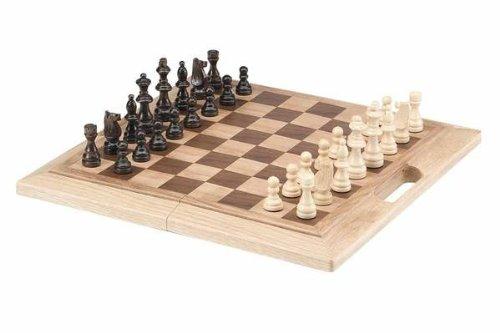 CHH Imports 16 Inch Oak Folding Chess Set