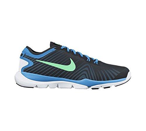 Nike Vrouwen Flex Opperste Tr 4 Crosstrainer Zwart / Groene Gloed / Blauwe Gloed / Wit