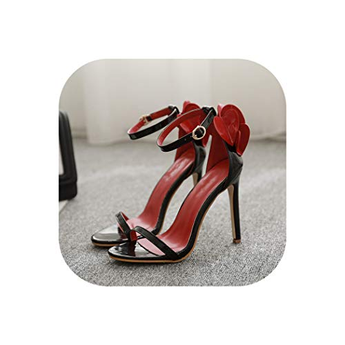 11.8cm Thin high Heels Ladies Sandals Summer Word with Peach,Black,40