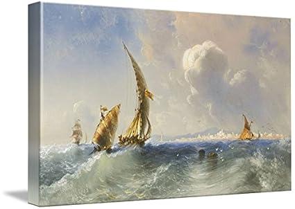 Amazon.com: Wall Art Print Entitled Carlo BOSSOLI, HIGH SEAS ...