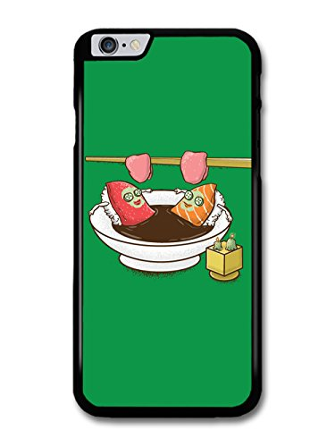 Sushi Relaxing in Sauna Soya Soup Funny Illustration coque pour iPhone 6 Plus 6S Plus