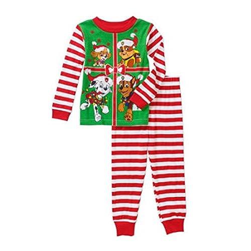 paw patrol christmas holiday baby toddler pajamas sleepwear 4t elf striped - Elf Christmas Pajamas