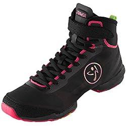 Zumba Women's Flex II High Top Shoes Black/Pink Size 6.5 M US