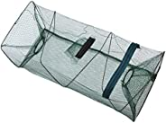 KendY Portable Bait Traps Fishing Nets Foldable,Easy Use Hand Casting Bait Traps Cage Baits Cast Mesh Trap for