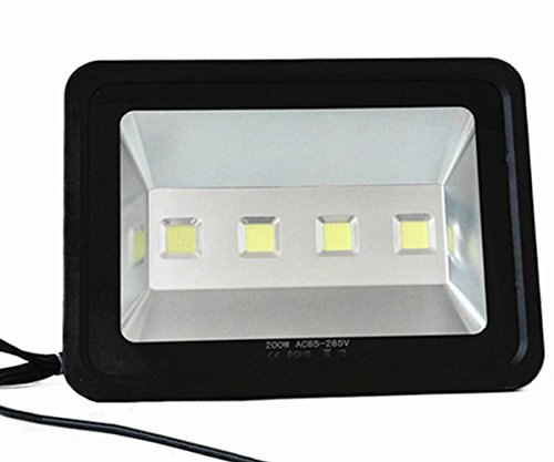 LED Floodlight 200W High Powe Outdoor Lighting Equivalent to 1000w Halogen Bulb Waterproof IP65 Warm White 3500k 120 Degree Beam Angle Outdoor Safety Lamp AC85-265V 2 year warranty (1 Reflective Glass 2 Fire)