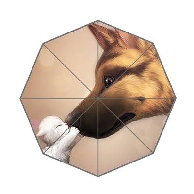 léger Marron Parapluie avec Lovely pour chien et chat