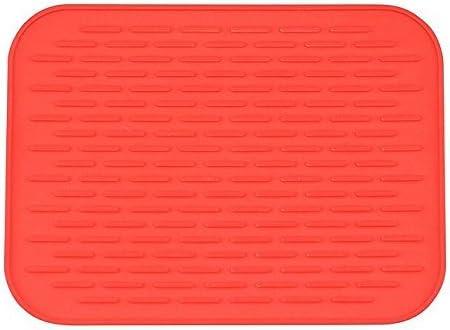 (Red) - Silicone Trivet Mat, Pot Holder, Hot Pad, Multi-purp