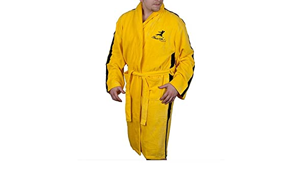 Amazon.com  Bruce Lee - Mens Bruce Lee - Jeet Kune Do Bathrobe Yellow   Clothing 45c3ff9f7