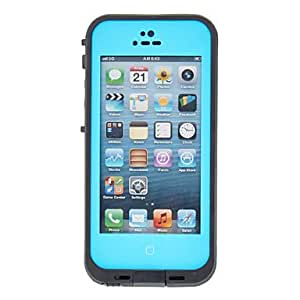 AES - Cool Airtight Tough Protective 2m Waterproof Full Body Case for iPhone 5 (Assorted Colors) , Blue