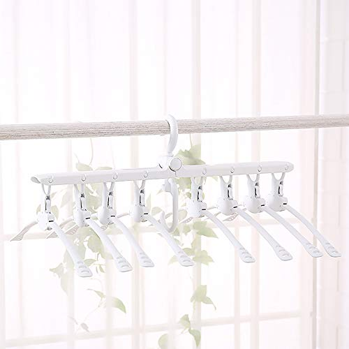 Tuotoo 8-in-1 Folding Clothes Hangers,8 Pieces Conjoined Clo